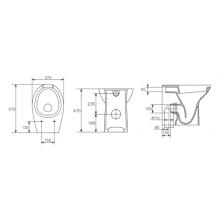 Inodoro completo cisterna alta Accessible (apertura frontal)
