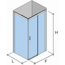 Mampara rectangular corredera SPG-310+LDFSUM