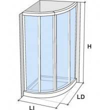 Mampara angular corredera curva CU