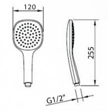 Teléfono de ducha Style Air 12x12
