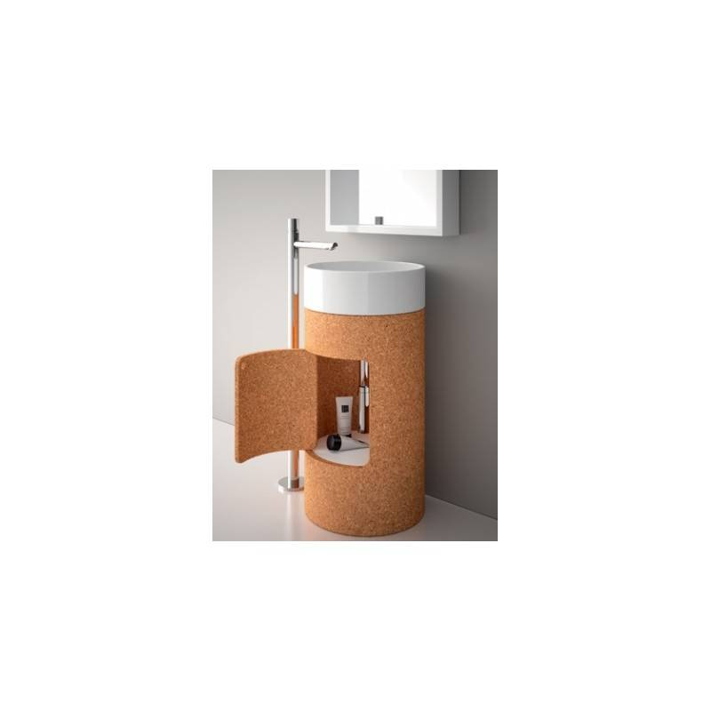 Lavabo round 45 con mueble pedestal materiales de f brica - Mueble de bano para lavabo con pedestal ...