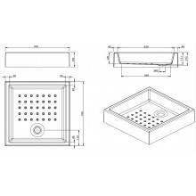 Plato de ducha MOSAICO 70x70x16