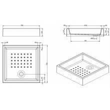 Plato de ducha MOSAICO 75x75x16