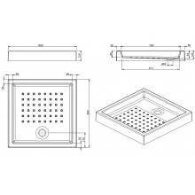 Plato de ducha MOSAICO 80x80x12