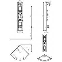 Columna RELAX Angular c/ grifo termoestático