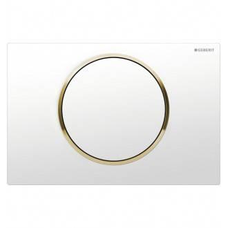 Pulsador Sigma10 Blanco-Dorado