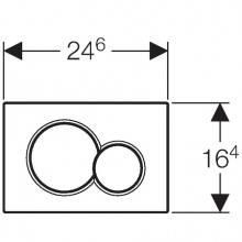 Pulsador Sigma01 Cromo Brillante/Mate