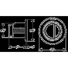 Pulsador Geberit01 Cromado Brillante cisterna 12 cm