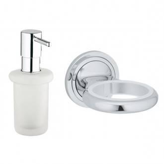 Dosificador de jabón y Soporte de pared Grohe Veris