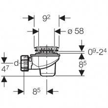 Sifón para plato de ducha Ø60mm