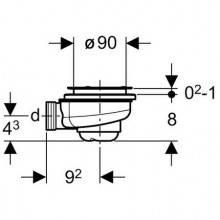 Sifón para plato de ducha Ø90mm