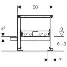 Duofix 50cm con Sifón para Ducha pared