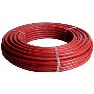 Rollo de tubería MultiSKIN4 con aislante rojo