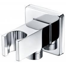 Salida de flexo y soporte de ducha cuadrado CR Imex