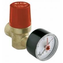 Válvula de seguridad H-H Comap con manómetro