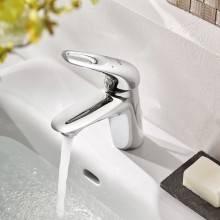 Grifo lavabo S Liso de palanca con hendidura Grohe Eurostyle