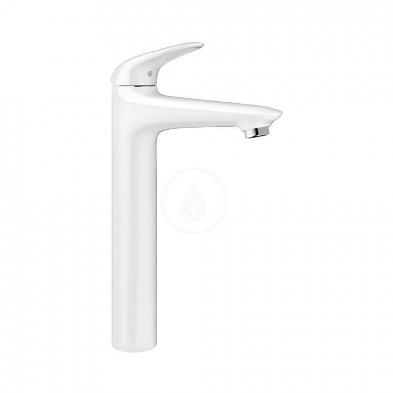 Grifo de lavabo XL de palanca sólida Moon White Grohe Eurostyle