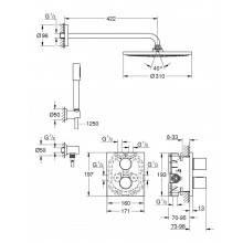 Set de ducha termostático Grohe Grohtherm 3000 Cosmopolitan RS 310