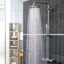 Columna termostática de ducha con aislante térmico Grohe Rainshower System 210