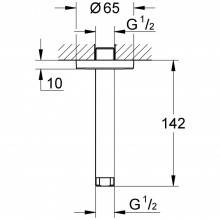 Brazo de techo para ducha de 14,2 cm Grohe Rainshower