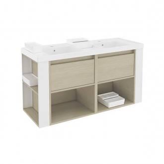 Mueble 120cm Roble Blanco Bath+ B-Smart B080312011666  aa22743190bd