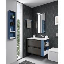 Mueble 60cm Antracita/Azul de 2 cajones Bath+...