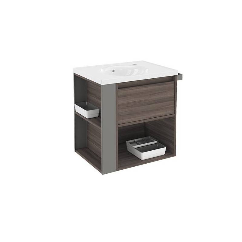 Mueble 60cm FresnoGris LP Bath+ BSmart  Materiales de Fábrica
