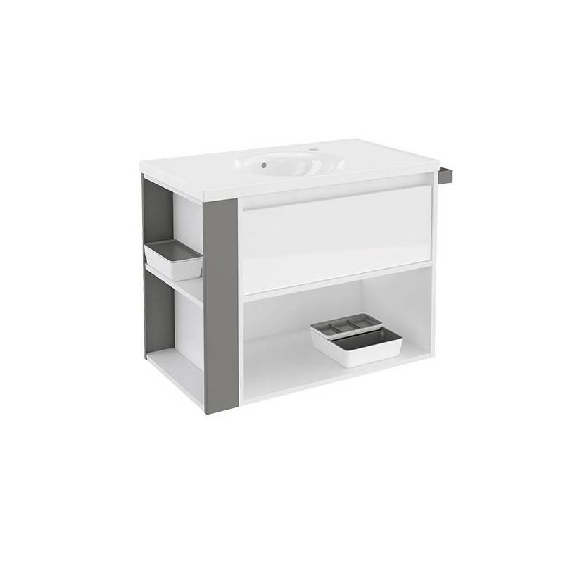 Mueble 80cm BlancoGris LP Bath+ BSmart  Materiales de Fábrica