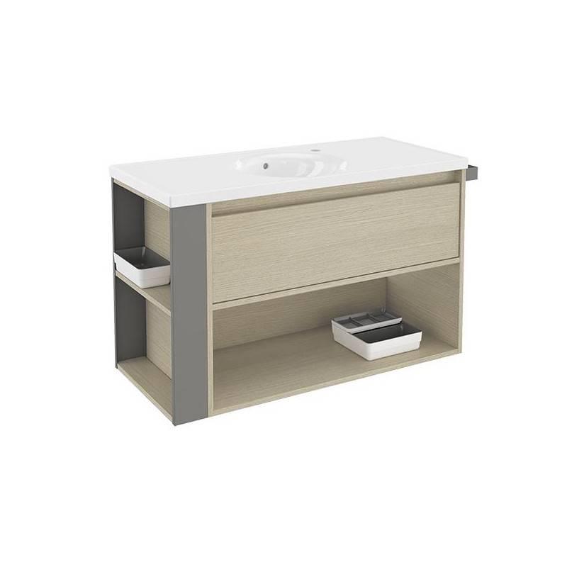 Mueble 100cm RobleGris LP Bath+ BSmart  Materiales de Fábrica