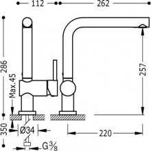 Grifo de fregadero antical TRES