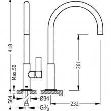 Grifo de fregadero curvado TRES CLASS