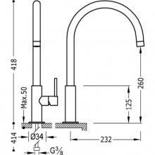 Grifo de fregadero curvado TRES MAX