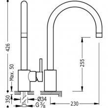 Grifo de fregadero tubular TRES MAX