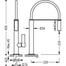 Grifo de fregadero extraíble BM TRES CLASS