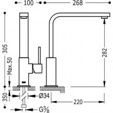Grifo de fregadero antical CUADRO-TRES