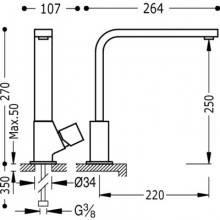 Grifo de fregadero de maneta cubo CUADRO-TRES