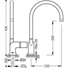 Grifo de fregadero de maneta cubo CUB-TRES