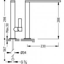 Grifo de fregadero recto CLASS-TRES