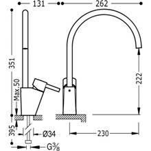 Grifo de fregadero monoblock LEX-TRES