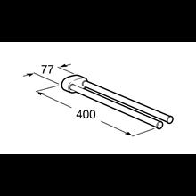 Toallero lavabo doble giratorio 2.0 Roca