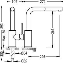 Grifo de fregadero de teleducha extraíble MAX-TRES