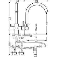 Grifo de fregadero Anticloro con filtro TRES ECOSMOSIS