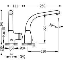Grifo fregadero electrónico SENSOR-TRES