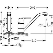 Grifo de fregadero Basic K-TRES
