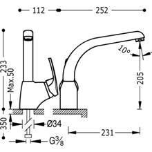 Grifo de fregadero monoblock ECO-TRES