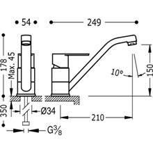 Grifo de fregadero Largo BM-TRES