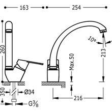 Grifo de fregadero basic BM-TRES