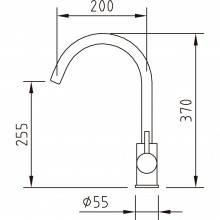 Grifo de fregadero Inox Curve