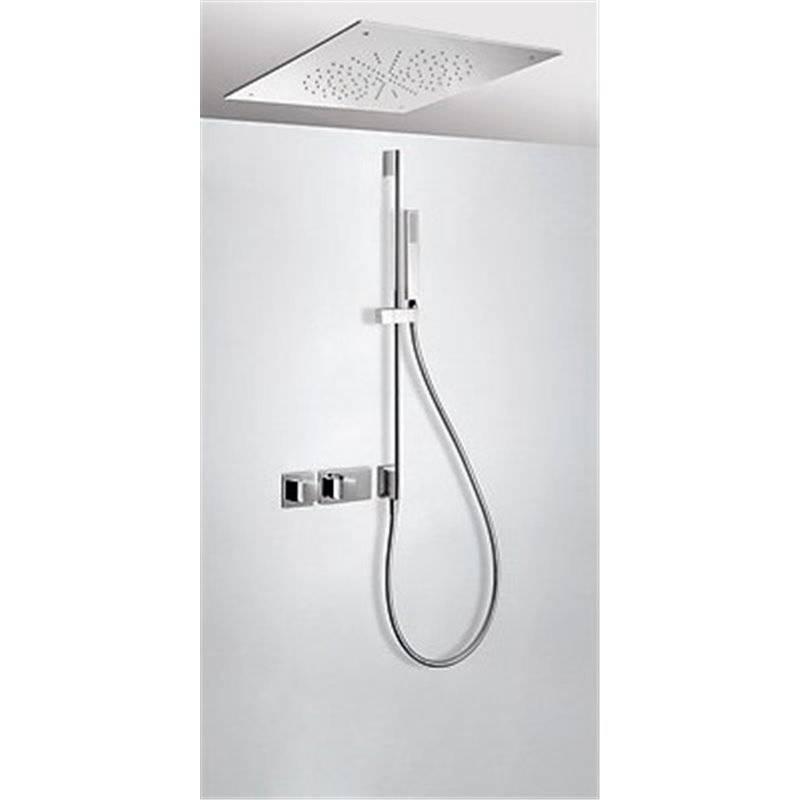 Kit de ducha termostático TRES RTC+ 50x50