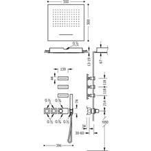 Kit de ducha termostático Cascada y Jets 4 vías TRES EC